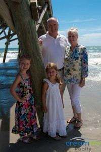 Dreamlife Realty clients Williams at Myrtle Beach with grandchildren