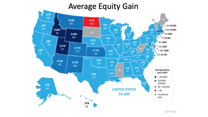 Equity Gain Growing in Nearly Every State   Simplifying The Market